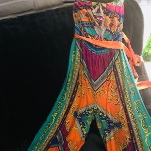 Other - Colorful wide leg jumpsuit